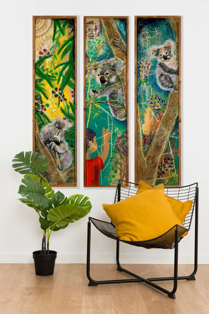 my heart is with australia triptych