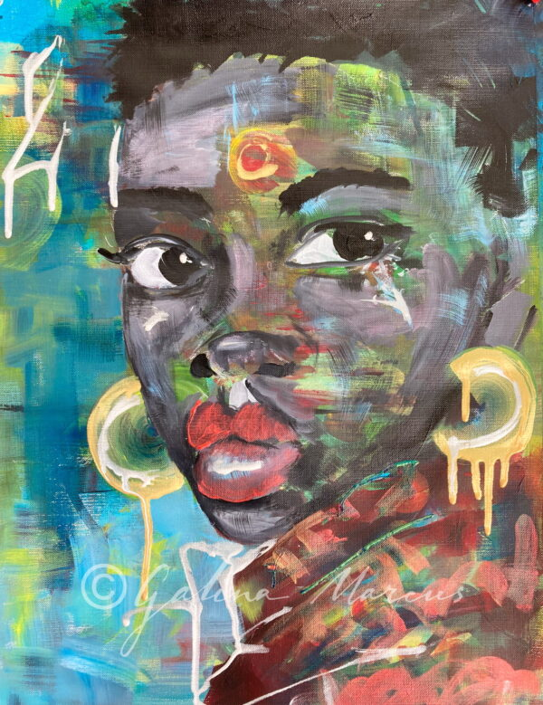 To All My Black Sisters painting