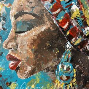 mama africa original painting acrylic on paper