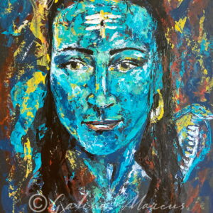Om Namah Shivaya original painting acrylic on paper