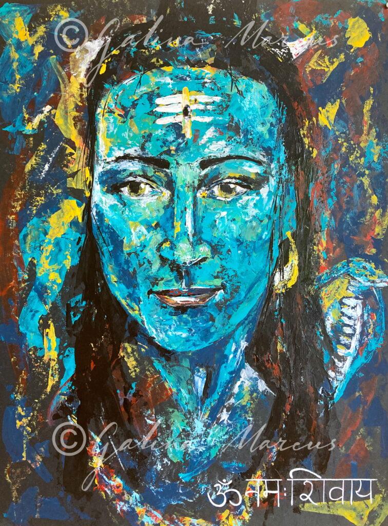 Om Namah Shivaya original painting acrylic on paper