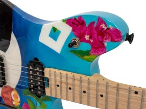 Corita Kent guitar art