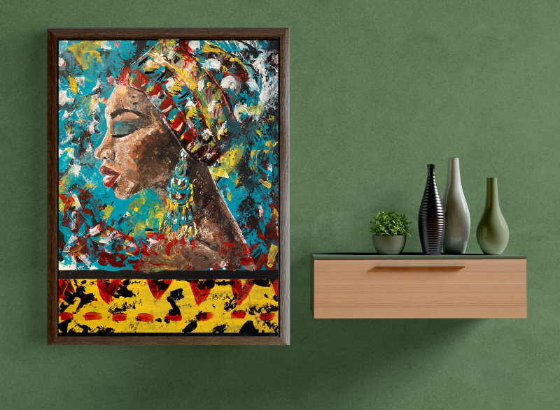 Inspiration behind Mama Africa painting