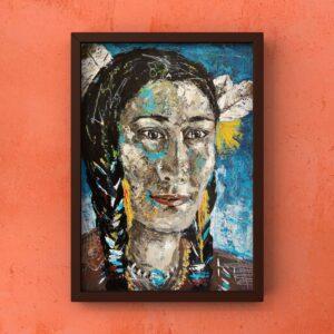 Sedona painting on the wall